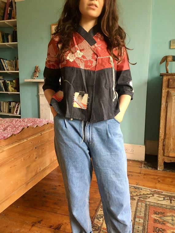 Rare Evisu Vintage Kimono Blouse, Size s