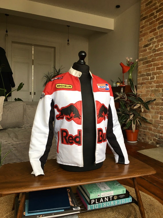 Vintage 80s RedBull, Red and White Jacket, Small