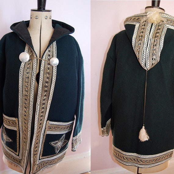Vintage Tribal Embroidered Coat - Tribal Jacket -