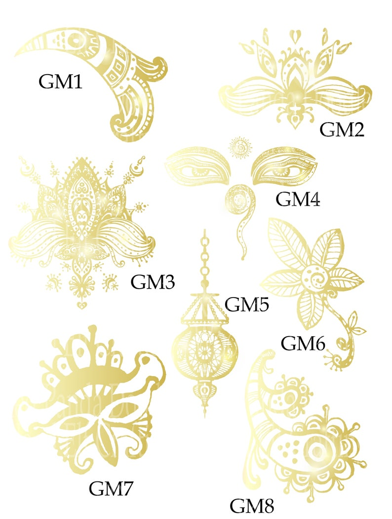Golden Mehdini Collection Digital PNG