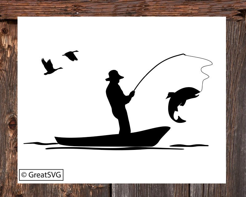 Download Fisherman Svg Trout Fishing Svg Fishing Boat Svg Trout Etsy