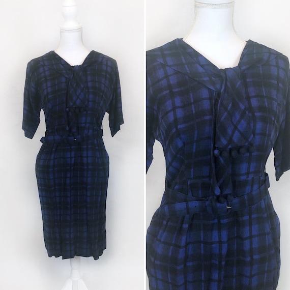 Vintage Plaid Dress, Homemade Plaid Dress Matching