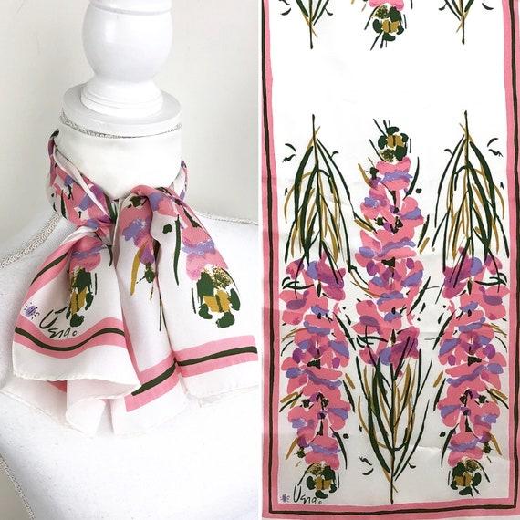 Vintage Vera Faux Silk Scarf, Vintage Faux Silk Sc