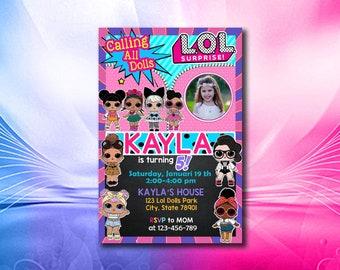 Lol Surprise Dolls Invitation Etsy