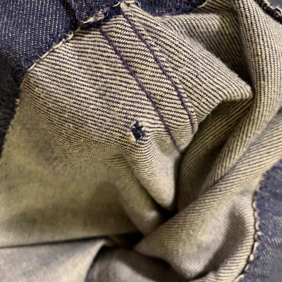 Vintage 60s Big E ~ LEVI'S Jeans. Cuffed Bell Bot… - image 10
