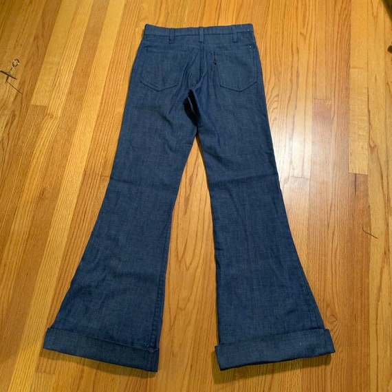 Vintage 60s Big E ~ LEVI'S Jeans. Cuffed Bell Bot… - image 3