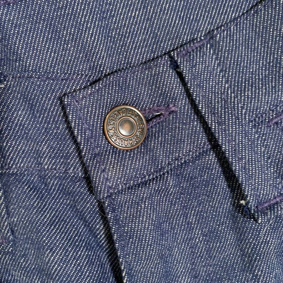 Vintage 60s Big E ~ LEVI'S Jeans. Cuffed Bell Bot… - image 5