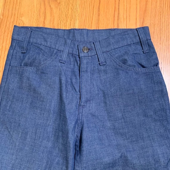 Vintage 60s Big E ~ LEVI'S Jeans. Cuffed Bell Bot… - image 4