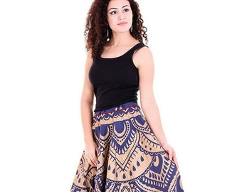 0e75f4ea53 Blue Indian wrap skirts, Elephant Mandala skirt, maxi skirt, Boho skirt,  bohemian gypsy skirt Hippie skirt cotton wedding bridesmaid skirt