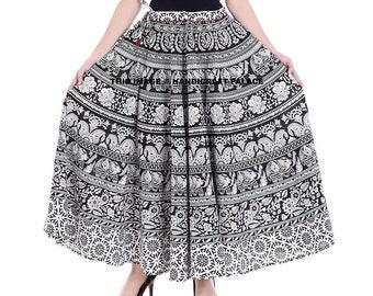 48661d6bd3 Indian skirts wrap skirt, Mandala skirt ethnic Gold maxi skirt Bohemian wrap  skirt Indian gypsy skirt Hippie cotton Boho Beach skirt full