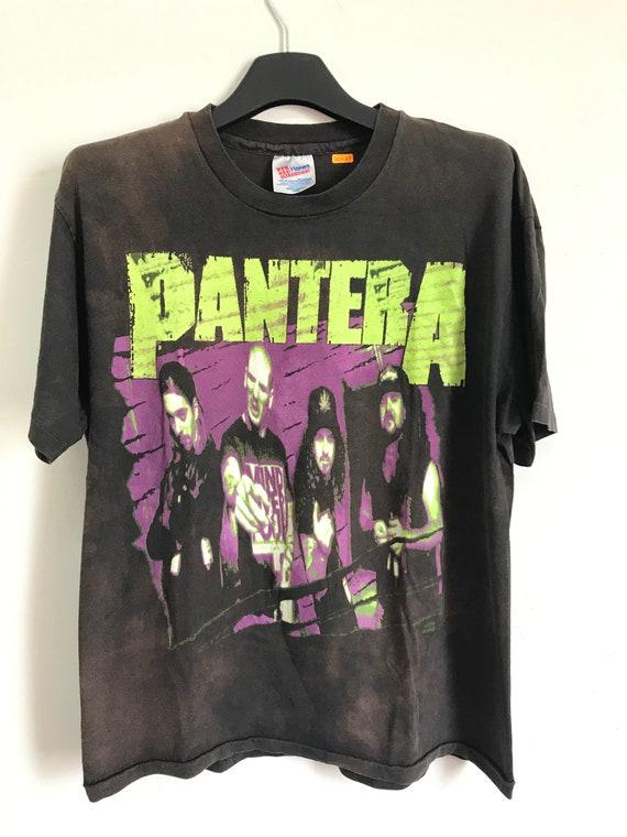 Vintage 1992 Pantera Lineup Band Tshirt Size M