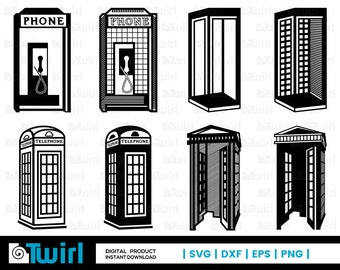 Phone booth clipart | Etsy