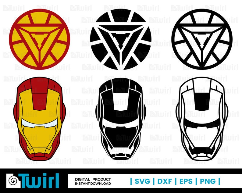 Iron Man svg | Iron Man Helmet silhouette | Iron Man Logo | vector |  Superhero Logos clip art | svg | dxf | eps | png | cricut cut file |