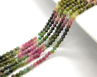 Multi Tourmaline Gemstone Smooth Round Balls Beads   Multi Tourmaline Smooth beads   Natural gemstone Smooth Beads   Tourmaline round Beads