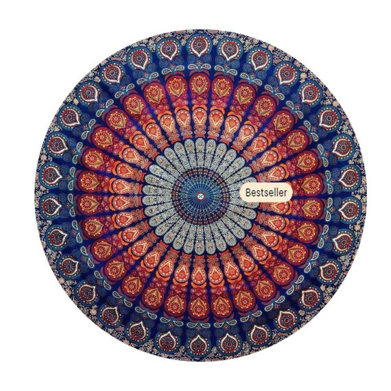 Tapestry Round Mandala Beach Mat Towel Throw Hippie Blanket Indian Picnic Yoga