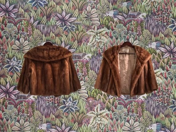 Vintage Mink Coat - U.S. Made Fur Bolero Cropped S