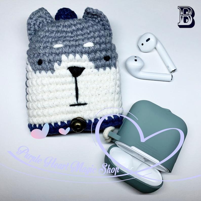 Handmade Zipper Project Bag Knit Crochet Travel Makeup Storage Red Bandana Gift