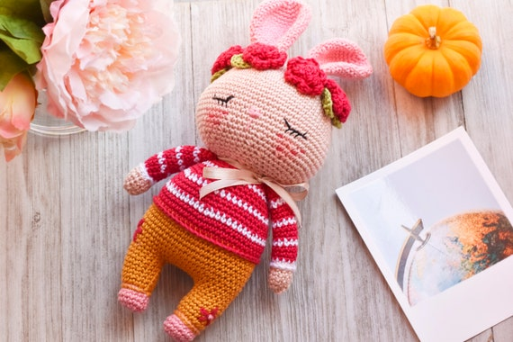Amigurumi lapin tricot 1/3 / Miss Bunny amigurumi knit (english ... | 380x570