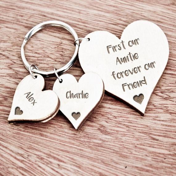 key fob Personalised keyring key chain Love you Nanny birthday christmas.