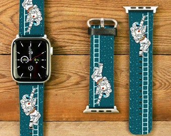 Apple Watch bracelet leather / PE leather in astronaut - design for Apple Watch 42/44 mm + 38 / 40mm + universal connector 24mm + 22 mm