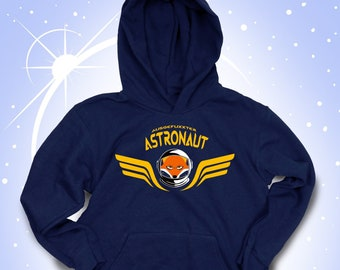 Christmas, ChildrenHoody >Fun astronaut< personalized by name, Birthday Christmas gift for boys, for smart foxes