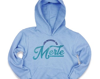 Personalize Christmas children's hoodie with name in glitter font, favoritehoodie as a gift for birthday, Advent or Christmas