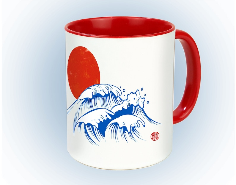 Cup of Japanese waves tea and coffee cup  Home image 0