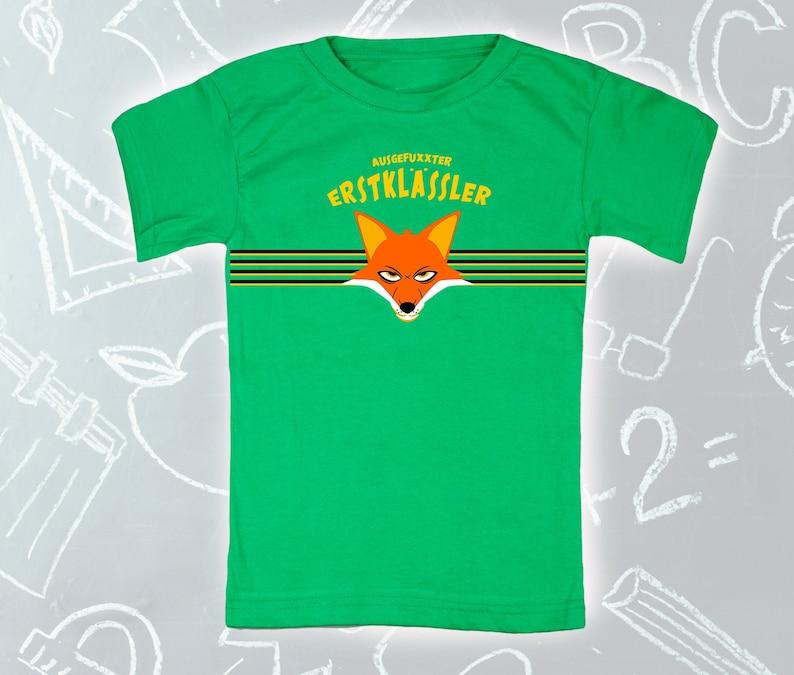 Back to school T-shirt green for school enrollment image 0