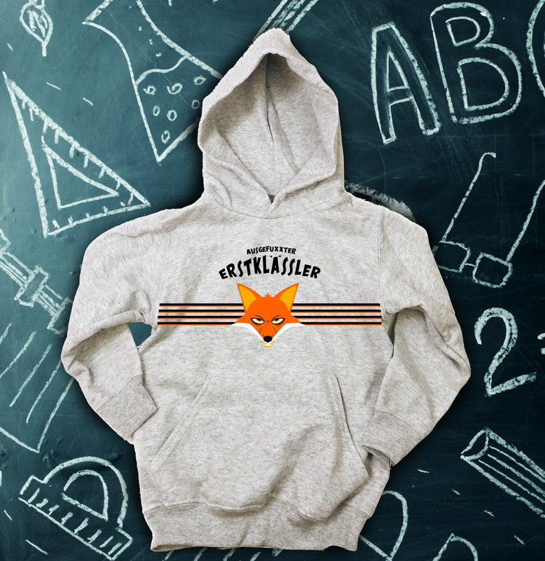 School enrollment hoodie Exhausted First Grader  image 0