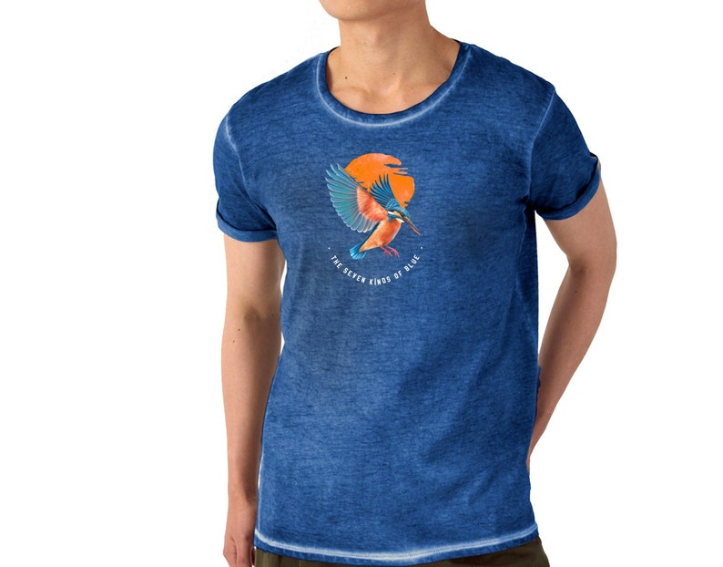 T-shirt men for the summer  exceptional blue pigmentation  image 0
