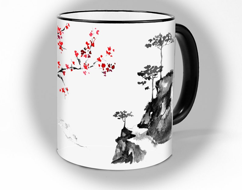 Cup Japan tea and coffee cup nice in the image 0