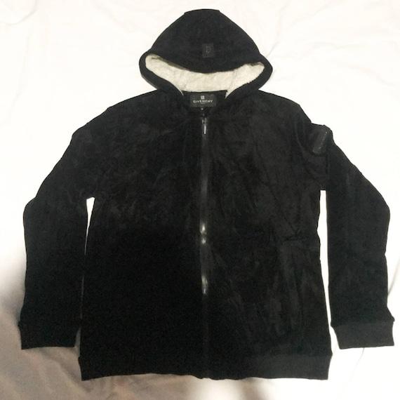 Vintage velvet jacket givenchy hooded warm jacket
