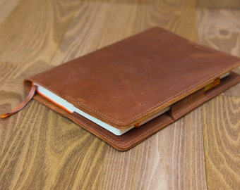 Price Western real leather notebook holder