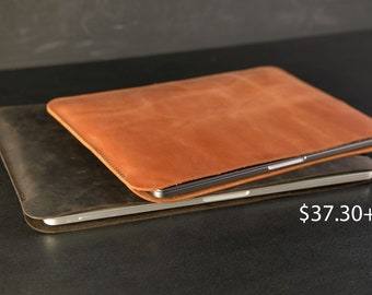 Personalized Leather Case for MacBook, MacBook 2021 M1 Sleeve, 16 inch Laptop Case, 13 inch Macbook Pro Cover, Free Stamp Personalization