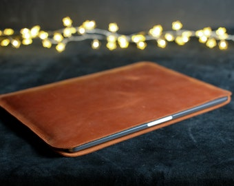 Custom Leather iPad Sleeve Personalized Leather Laptop Sleeve 13in 15in Personalized Leather Tablet Bag Personalized Leather Macbook Bag