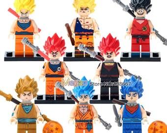 Custom Dragonballz Minifigures Set Of 8 Gokugohangoten Dragon Ball Z Minifigure