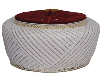 5614c93748db ROSE SMELLS,Turkish handmade Islamic Prayer velvet Hat, Muslim Hat, Red Mens  Kufi Cap, Sarik, Skull Cap, natural fez, Turban Sarık Hat