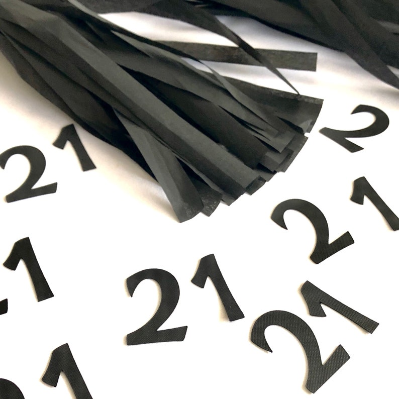 21st Party Decorations Custom Number Birthday Confetti 21st Party Birthday for him Tables scatters Party Decoration Birthday for Her