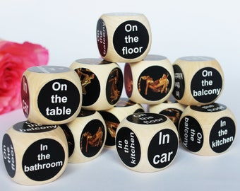 7aaf926b648 Adult Dice Game Set Kamasutra, Unique Gift, Erotic Game, Sex Game, Naughty, Love  Dice, Dice Game, Sexy Dice Gift for Boyfriend Husband Wife