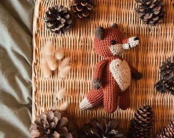 Edouard the fox / crocheted cuddly toy / organic cotton plush / fox cuddly toy / amigurumi