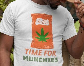 Time For Munchies Marijuana Lover T-Shirt, 420 Munchies Time, Munchies Tee, Cannabis T Shirt, Marijuana T Shirt, Cannabis Lover T, Munchies