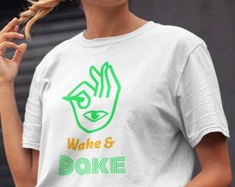 Wake And Bake Marijuana Lover T Shirt, Wake & Bake Tee, Marijuana Lover T-Shirt, Cannabis T Shirt, Marijuana Tee, Cannabis Lover, Wake Bake