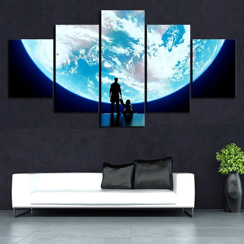 Earth from Space Canvas Art Video Game Decor Overwatch Extra Large Wall Art Video Game Poster Overwatch Poster Baby Winston Gaming Art