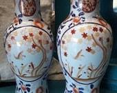 Antique old imari japanese porcelain vase set