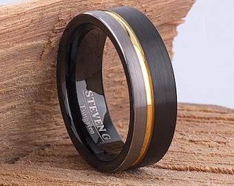 CER067 12mm Black Hi-Tech Ceramic Ring Style Wedding Engagement Band 12mm Wide Flat Tube Cut Style High Polish Finish Comfort Fit Popular