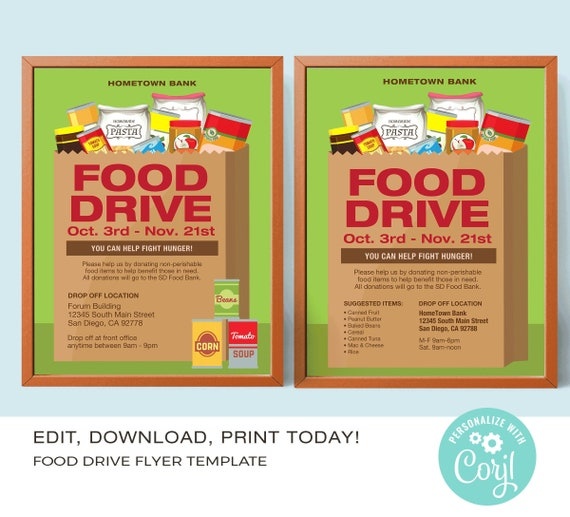 Food Drive Poster Template from i.etsystatic.com