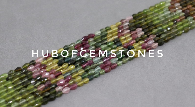 Straight Drill Beads Drops Shape Beads Multi Tourmaline Faceted Drops Beads AA Grade Gemstone Beads Multi Tourmaline Faceted Beads