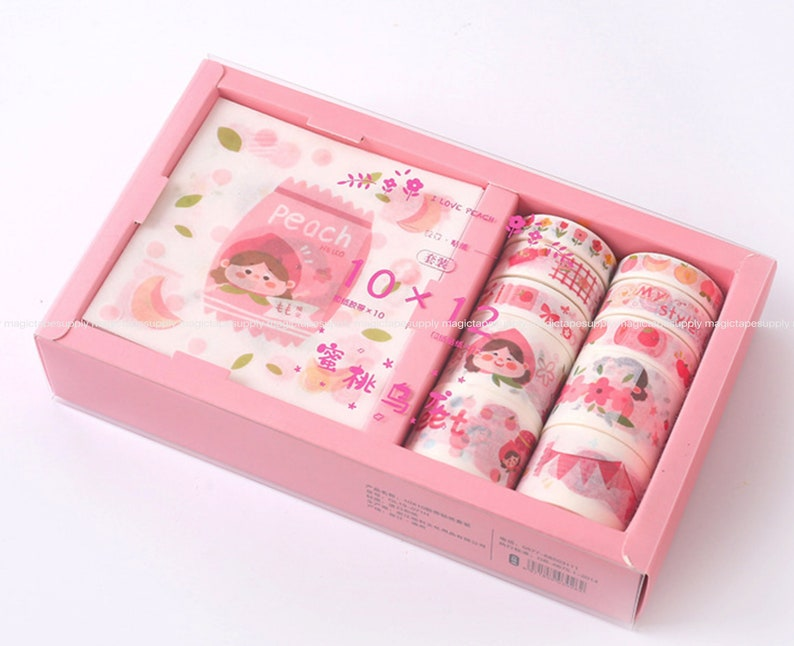 10 Rolls and Stickers set Pink Planner washi tape Japanese Sticker masking tape wholesale Accessories Supplies Wholesale ss147-11