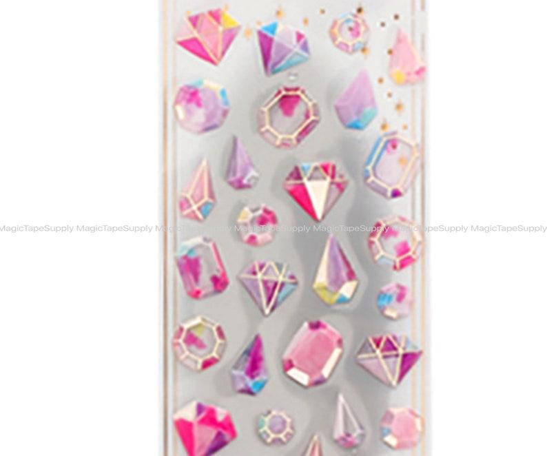 Magic rainbow Diamond lovely Fancy epoxy sticker Decorative Stationery gift  3D sticker Supplies Wholesale en0090-28