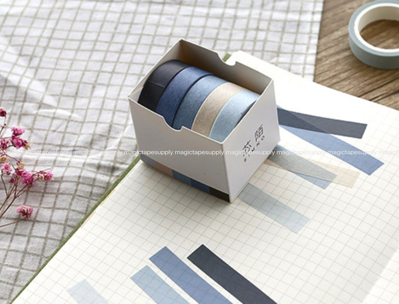 5 pieces Rolls set Planner washi tape Japanese masking tape Design Washi Tape wholesale Accessories Supplies Wholesale ss139-8